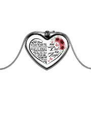 My Dad My Angel Metallic Heart Necklace front