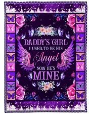 "Daddys Girl Large Fleece Blanket - 60"" x 80"" front"