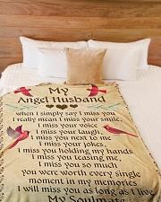 "MY Angel Husband L Large Fleece Blanket - 60"" x 80"" aos-coral-fleece-blanket-60x80-lifestyle-front-02"