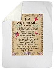 MY Angel Husband L Sherpa Fleece Blanket tile