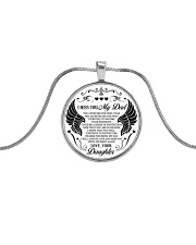 Limited Edition Metallic Circle Necklace front