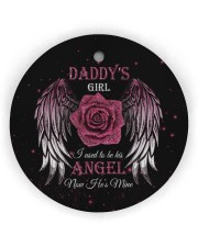 Daddys Girl Circle Ornament (Wood tile