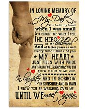 In Loving Memory Of My Dad 11x17 Poster front