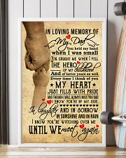 In Loving Memory Of My Dad 11x17 Poster lifestyle-poster-4