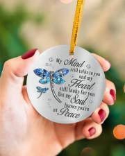 My Mind Still Talk To You Circle ornament - single (porcelain) aos-circle-ornament-single-porcelain-lifestyles-09