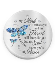 My Mind Still Talk To You Circle ornament - single (porcelain) front