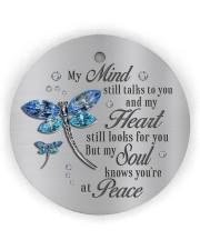 My Mind Still Talk To You Circle ornament - single (wood) thumbnail