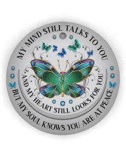 My Mind Still Talk To You Circle Ornament (Wood tile
