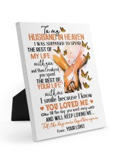 To My Husband In Heaven 8x10 Easel-Back Gallery Wrapped Canvas front
