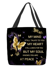 My Mind Still Talks To You All-over Tote front