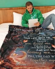 "To My Husband Large Fleece Blanket - 60"" x 80"" aos-coral-fleece-blanket-60x80-lifestyle-front-06"