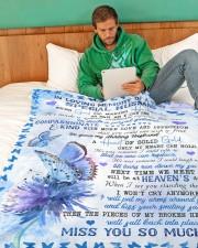"In Loving Memory Large Fleece Blanket - 60"" x 80"" aos-coral-fleece-blanket-60x80-lifestyle-front-06"