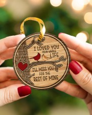 I Loved You Circle ornament - single (porcelain) aos-circle-ornament-single-porcelain-lifestyles-08