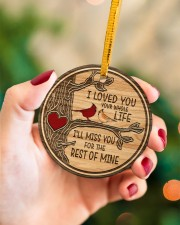 I Loved You Circle ornament - single (porcelain) aos-circle-ornament-single-porcelain-lifestyles-09