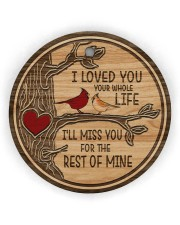 I Loved You Circle ornament - single (wood) thumbnail