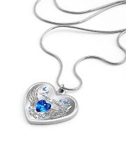I'm Not A Widow I'm A Wife To A Husband With Wings Metallic Heart Necklace aos-necklace-heart-metallic-lifestyle-05