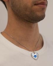 I'm Not A Widow I'm A Wife To A Husband With Wings Metallic Heart Necklace aos-necklace-heart-metallic-lifestyle-2