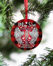 My Son Is My Guardian Angel Circle ornament - single (porcelain) aos-circle-ornament-single-porcelain-lifestyles-07