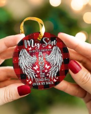 My Son Is My Guardian Angel Circle ornament - single (porcelain) aos-circle-ornament-single-porcelain-lifestyles-08