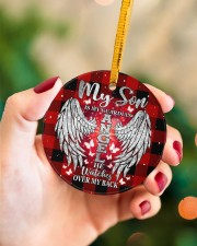 My Son Is My Guardian Angel Circle ornament - single (porcelain) aos-circle-ornament-single-porcelain-lifestyles-09