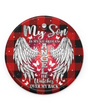 My Son Is My Guardian Angel Circle ornament - single (porcelain) front