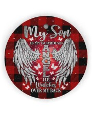 My Son Is My Guardian Angel Circle Ornament (Wood tile