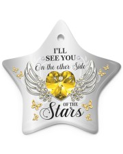 Limited Edition Star ornament - single (porcelain) front