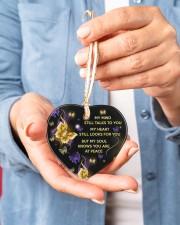 My Mind Still Talks To You Heart ornament - single (porcelain) aos-heart-ornament-single-porcelain-lifestyles-01