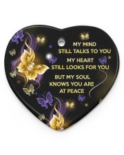 My Mind Still Talks To You Heart ornament - single (porcelain) front