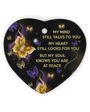 My Mind Still Talks To You Heart Ornament (Wood) tile