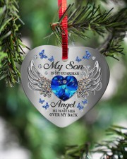 My Son Is My Guardian Angel Heart ornament - single (porcelain) aos-heart-ornament-single-porcelain-lifestyles-07