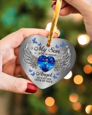 My Son Is My Guardian Angel Heart ornament - single (porcelain) aos-heart-ornament-single-porcelain-lifestyles-08