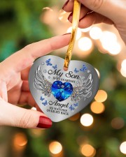 My Son Is My Guardian Angel Heart ornament - single (porcelain) aos-heart-ornament-single-porcelain-lifestyles-09