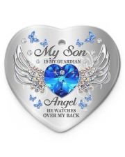 My Son Is My Guardian Angel Heart ornament - single (porcelain) front
