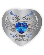 My Son Is My Guardian Angel Heart Ornament (Wood) tile