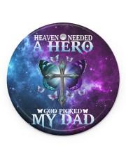Heaven Needed A Hero Circle ornament - single (porcelain) front