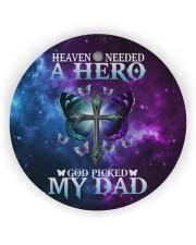 Heaven Needed A Hero Circle ornament - single (wood) thumbnail