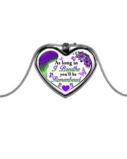 Limited Edition Metallic Heart Necklace front