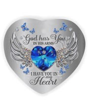 God Has You In His Arms Heart Ornament (Wood) tile