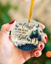 My Angel In Heaven Circle ornament - single (porcelain) aos-circle-ornament-single-porcelain-lifestyles-09