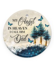 My Angel In Heaven Circle ornament - single (porcelain) front