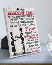To My Husband In Heaven 8x10 Easel-Back Gallery Wrapped Canvas aos-easel-back-canvas-pgw-8x10-lifestyle-front-01
