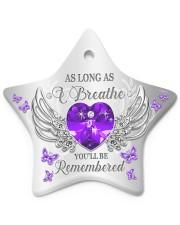 As Long As I Breathe Star ornament - single (porcelain) front