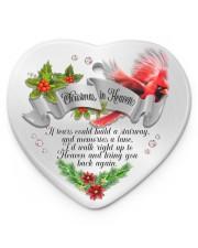 Christmas In Heaven Heart ornament - single (porcelain) front
