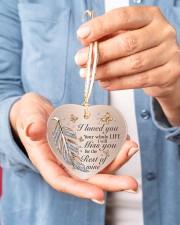 I Loved You Heart ornament - single (porcelain) aos-heart-ornament-single-porcelain-lifestyles-01