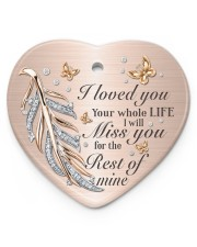 I Loved You Heart ornament - single (porcelain) front