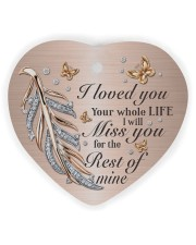I Loved You Heart Ornament (Wood) tile