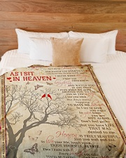 """As I Sit In Heaven Large Fleece Blanket - 60"""" x 80"""" aos-coral-fleece-blanket-60x80-lifestyle-front-02"""