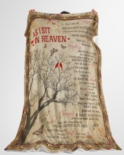 """As I Sit In Heaven Large Fleece Blanket - 60"""" x 80"""" aos-coral-fleece-blanket-60x80-lifestyle-front-10"""