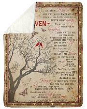 As I Sit In Heaven Sherpa Fleece Blanket tile